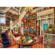 White Mountain Puzzles Readers Paradise 1000 Piece Puzzle