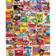 White Mountain Puzzles Cereal Boxes 1000 Piece Puzzle