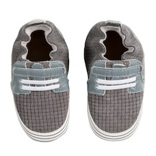 Robeez Soft Soles Leather Shoe with Suede Sole - Jude Grey Baby 12-18 Months