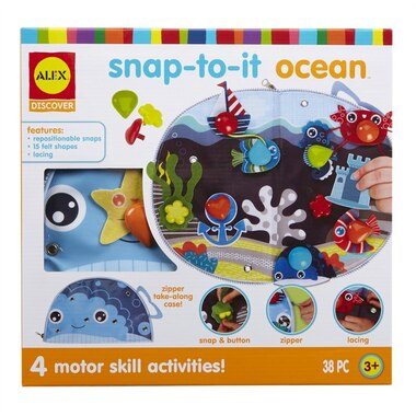 Alex® Discover Snap-To-It Felt Scene Creation Toy Ocean