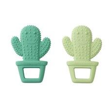 Silicone Teether 2pk, Happy Cactus