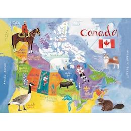 Map of Canada Floor Puzzle