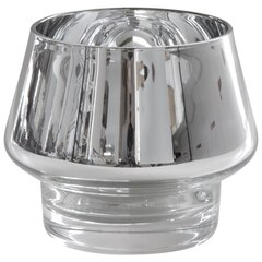 Kaso Metallic Candle Holder – Silver