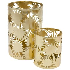 Terrazzo Gold Candle Holder – Set of 2