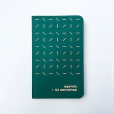 AGENDA INTEMPOREL 52 SEMAINES LIGNES VERT FORÊT