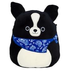"Squishmallow 8"" DOG BLUE BANDANA"