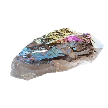 Rainbow Aura Amethyst CRYSTAL Point – Large
