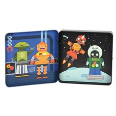 On the go Magnetic Tin Robots