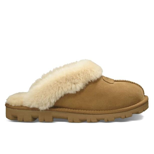 Coquette Clog Slipper, Chestnut Size 10