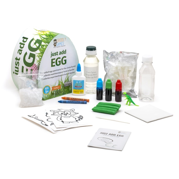 GRIDDLY GAMES JUST ADD EGG SCIENCE KIT