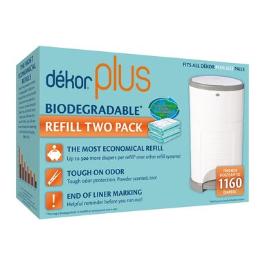 Dékor® Diaper Disposal Bin Refill Bag Plus 2-Pack