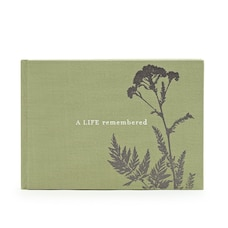 A Life Remembered Funeral Guest Book