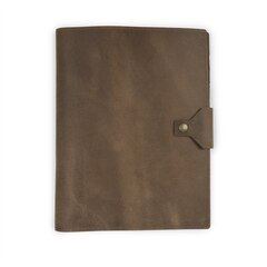 Rustico Executive Leather Padfolio, 9.75x12.5- Dark Brown