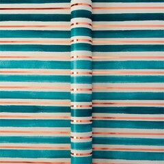 Metallic Copper Stripe Roll Wrap