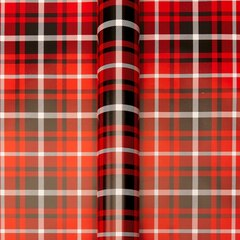 RED ARCHIE PLAID ROLL WRAP