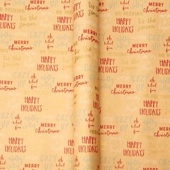 Kraft Tidings Roll Wrap