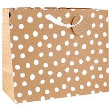 Très grand sac-cadeau – Papier kraft et accents métalliques