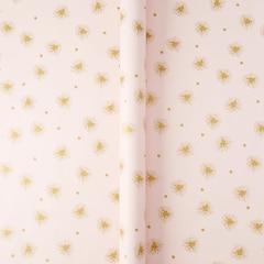 Papier d'emballage – Étoile rayonnante rose métallique
