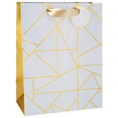 Large Gift Bag - Rose Gold Geo Lines