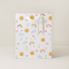 Medium Baby Gift Bag Sun/Rainbow