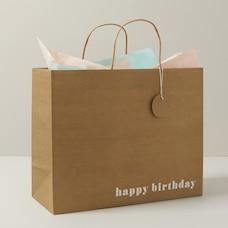 Sac-cadeau FSC d'anniversaire très grand - Kraft