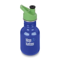 KLEAN KANTEEN KID 12OZ SPORT, BLUE COASTAL WATER