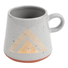 Plum & Punch Ceramic Natural Mug - Pyramid Design