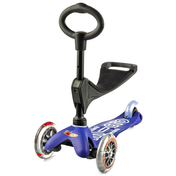 MICRO Mini 3-in1 Deluxe Kickboard Scooter-Blue
