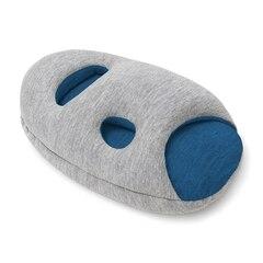 OSTRICHPILLOW® MINI TRAVEL PILLOW - SLEEPY BLUE