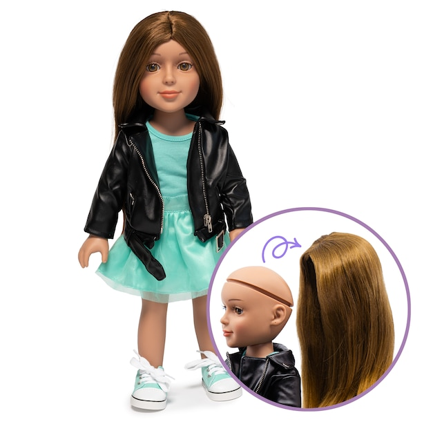 """I'M A GIRLY FASHION DOLL LUCY WITH INTERCHANGEABLE WIG – 19"""" TALL"""