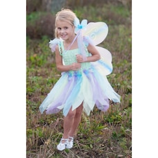 Great Pretenders Dress-Up Costume Dress with Wings and Wand Butterfly Green and Pastel