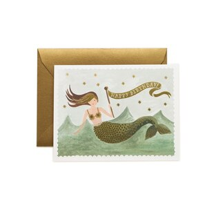VINTAGE MERMAID BIRTHDAY GREETING CARD