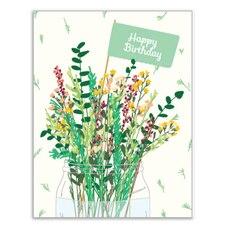 Paper E. Clips Birthday Card Flora Birthday