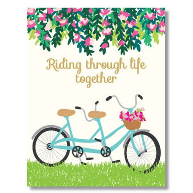 Paper E. Clips Valentines Card Riding Together