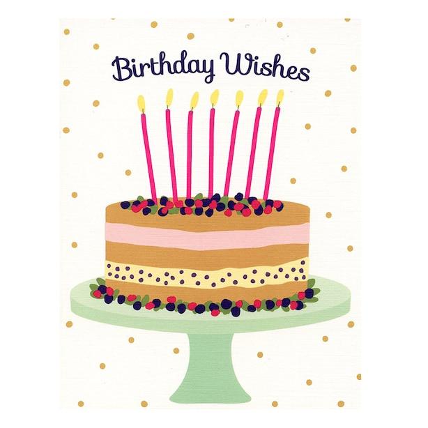 Paper E. Clips Birthday Card Berry Cake