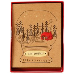 Cabin Snow Globe Boxed Holiday Cards