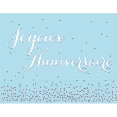 Boxed Cards - Joyeux anniversaire (in French)