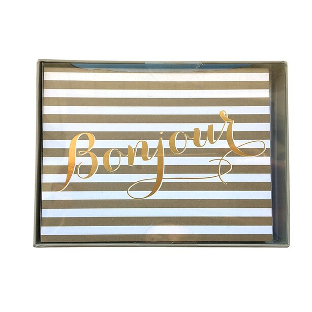 Boxed Cards - Bonjour (in French)