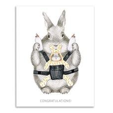 Paper E. Clips Congratulations Card Congrats Bunny