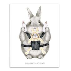 Congratulations Card Congrats Bunny