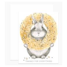 Thank You Card Bunny Dear