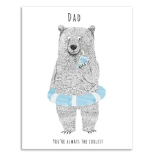 Father's Day Card Coolest Pop
