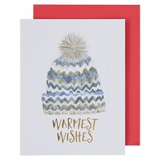 Holiday Boxed Cards Chevron Hat