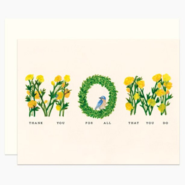 Paper E. Clips Mother's Day Card Floral Mom