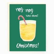 Holiday Card Eggnog Christmas