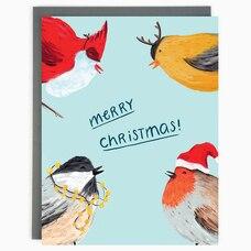 Holiday Card Christmas Birds