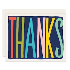THANK YOU CARD COLOURFUL