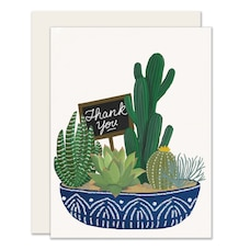 Paper E. Clips Thank You Card Succulent Thank You