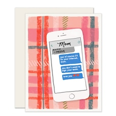 Mother's Day Card Mom Texts