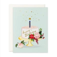 Birthday Card Peach Cake